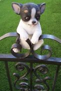 Fence Gate Hanger Figurine Chihuahua Wall Climber Indoor Outdoor Garden Decor 8andrdquo