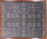 Southwest Navajo Hand Knotted Wool Area Rug 8and039 0 X 9and039 9 - Q1559