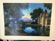 Jim Buckels Nocturne Hand Signed And Numbered Limited Edition Serigraph White