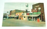 Lake Ave Crandon Wi Downtown Rexall Drugs Gamble Stores Hamm's Beer Postcard T