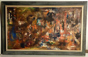 Fire City Oil On Canvas By Joe Shankland, Landsdown, Pa And Cape May Courthouse Nj