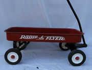 Vintage Radio Flyer Childrenand039s Pull Ride On Red Wagon Needs Some Tlc