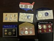 Seven 7 Proof And Uncirculated Sets And Coins Us Mint 1963 1964 1972 Etc