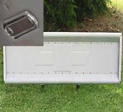 Tailgate Chevy 1947 - 1953 Embossed Bowtie Stainless Chevrolet Stepside Truck