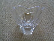 Large New Hand Signed Orrefors Swedish Art Glass Orion Crystal Bowl Thick Mold