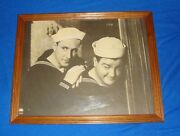 Abbott And Costello Large Wood Framed Picture