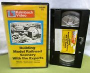 Building Model Railroad Scenery Instructional Kalmbach Foliage And Backdrops Vhs