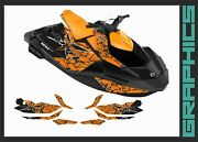 Seadoo Spark Trixx Graphics Decals Kit For 2up 3up Stickers Set Watercraft Part