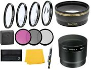 Wide Angle Lens And Macro Close-up Filter Set For Canon Powershot S5 S3 S2 Is