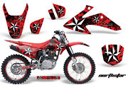 Graphics Kit Decal Wrap + Plates For Honda Crf150 Crf230f 2008-2014 Nstar Red