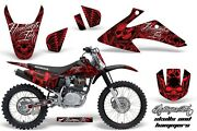 Graphics Kit Decal Wrap + Plates For Honda Crf150 Crf230f 2008-2014 Hish Red