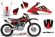 Graphics Kit Decal Wrap + Plates For Honda Crf150 Crf230f 2008-2014 Carbonx R