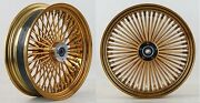 Dna Black And Gold Mammoth 52 Fat Spoke Wheels 23x3.5 And 18x3.5 Softail Harley