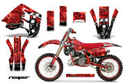 Decal Graphics Kit Wrap + Plates For Ktm Exc Mxc 250 300 1990-1992 Reaper Red