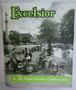Excelsior Vintage 1950s Motorcycle Brochure Catalog Poster Talisman Twin Sports