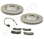 For Porsche Panamera 4.8l 10 Front Left And Right Brake Disc And Pad And Sensors Kit