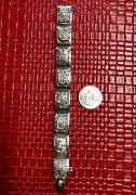 Antique Vintage Hinged Chinese Bracelet Silver 6 1/2 - Intricate Detail