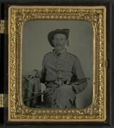 Photo Civil War Confederate Maryland Cavalry Uniform With Sword And Pistol