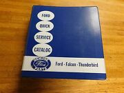 1953 - 1960 Ford Dealership Quick Service Master Parts Catalog W Part Numbers
