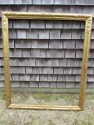 Antique Signed Thulin Hand Carved Arts And Crafts Painting Frame Fits 42x35 Inch