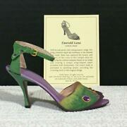 Just The Right Shoe 25185h Emerald Luna, Signed Miniature Resin Shoe By Raine