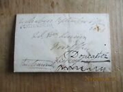 1836 Pre Stamp Entire Fochabers Town Cancel Redirected See Scans