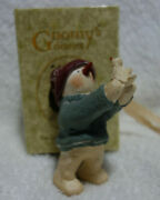 Gnomy's Diaries Legend Of Snowtime Snowman With Bird Figurine Annekabouke