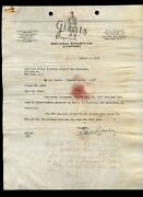 Original 1947 Ny Giants Baseball 3 Page Signed Horace Stoneham Letter And Bill