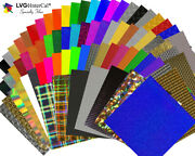 100 Sheets 12 X 12- Lvg Specialty Craft And Hobby Cutting Vinyl - 80 Choices