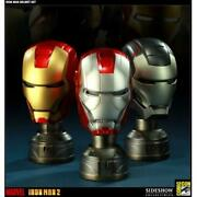 Sideshow Collectibles Sdcc Exclusive Iron Man 2 Helmet Bust Set Marvel Sealed