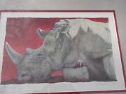 Will Bullas And039wine-ocerosand039 Signed Lithograph 464 At Coa Rhinoceros Horn Wine