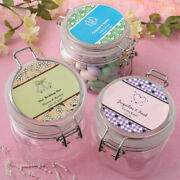 20-80 Personalized Large Acrylic Candy Apothecary Jar Wedding Shower Party Favor