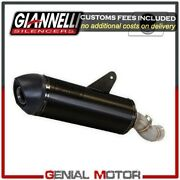 Full Exhaust System Giannelli Black Aluminum + Cat Kymco Xciting 400 2012 2016
