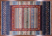 Tribal Gabbeh Hand-knotted Wool Rug 6' 6 X 9' 5 - Q2190