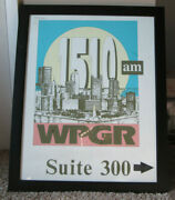Vintage Pittsburgh, Pa Radio Station Poster Wpgr Am 1510 Hung In Building Rare