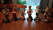 Collection Lot Of 6 G. Armani Capodimonte Italy Porcelain Figurines