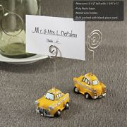 15-144 - Yellow Taxicab Place Card Holders - Wedding Shower Party Favor