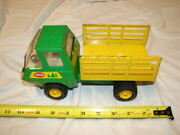 Vintage Tonka Toy Truck Pressed Steel Forest Forestry Tilt Bed Stake Truck Rare