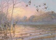 Timber Pond Giclee Print Herb Booth Flooded Timber Duck Hunting Decoys