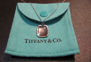 And Co. Elsa Peretti Platinum Id Pendant And Necklace