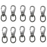 10pc 1and039and039 Boat Marine Ss Swivel Eye Snap Hook 250 Lbs Working Load Ss316 Hardware