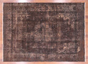 8and039 0 X 11and039 3 Overdyed Hand Knotted Wool Area Rug - Q2477