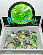 Rick And Morty Animated Tv Series Metal Button Assortment Of 100 New Boxed