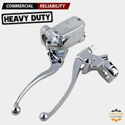 1 Motorcycle Chrome Clutch And Hydraulic Brake Master Cylinder Levers For Harley