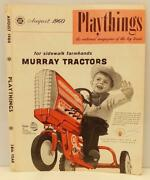 Murray Pedal Car Ad 3 Vintage 1960 Playthings Mag Cover Only, Farm Toy Tractors