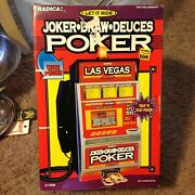 Radica Las Vegas Poker Slot Machine Coin Bank And Land Line Telephone Let It Ride