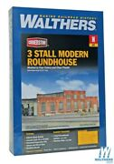 Walthers 933-3260 3-stall Modern Roundhouse Kit N Scale Train