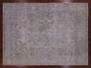Vintage White Wash Handmade Wool Rug 9and039 4 X 12and039 8 - Q2576