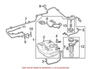 For Mercedes Genuine Diesel Exhaust Fluid Def Tank Assembly 2044707502