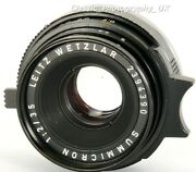 Summicron 12/35mm 11309 6-element Wide-angle Lens Made By Leitz Wetzlar In 1970